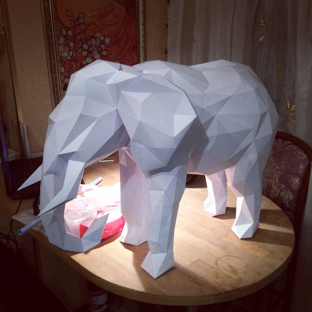 Как сделать слона из бумаги своими руками фото 8