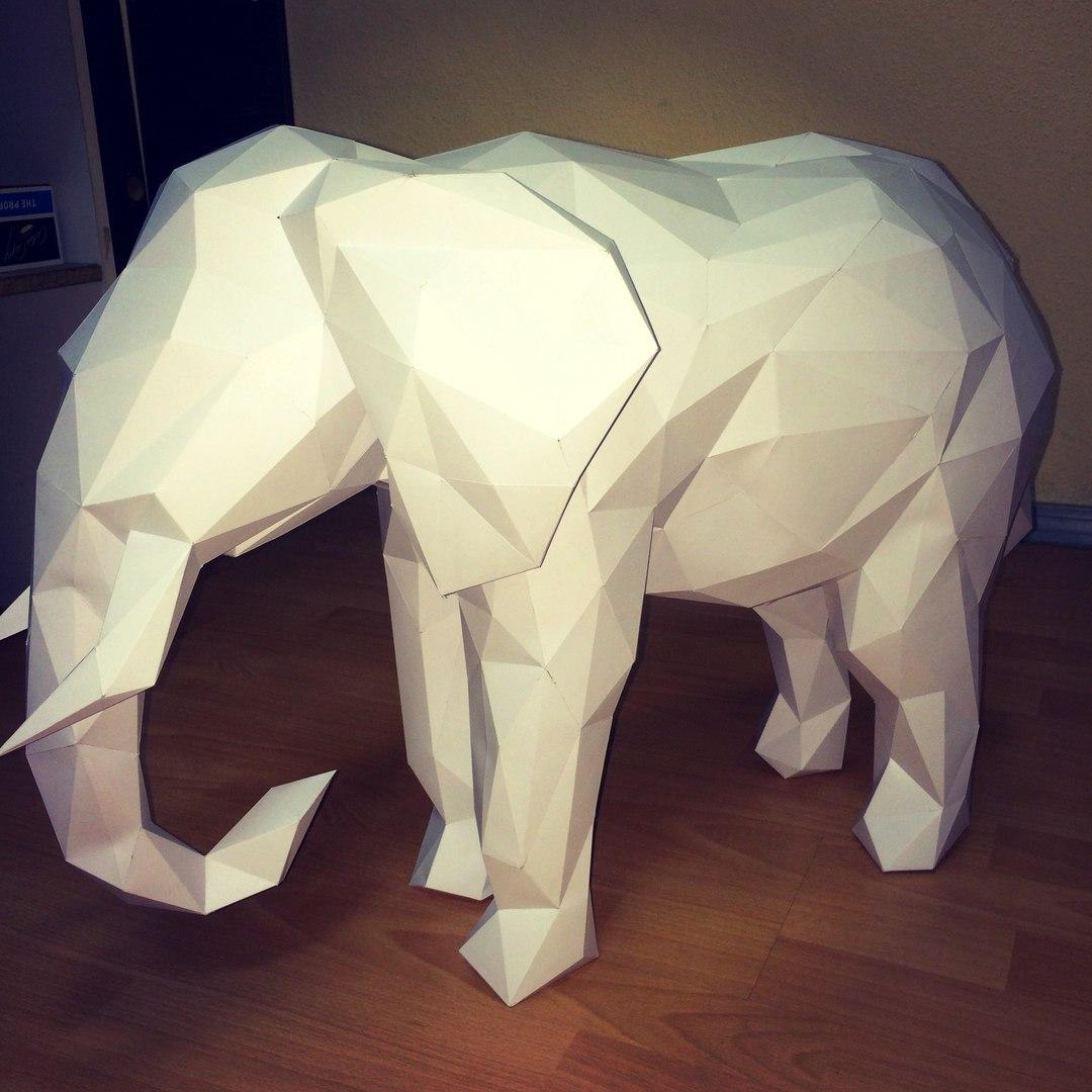 Как сделать слона из бумаги своими руками фото 970