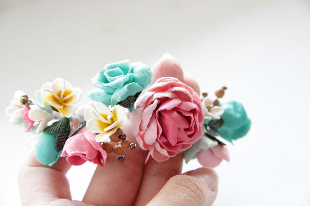 Браслеты с розами своими руками