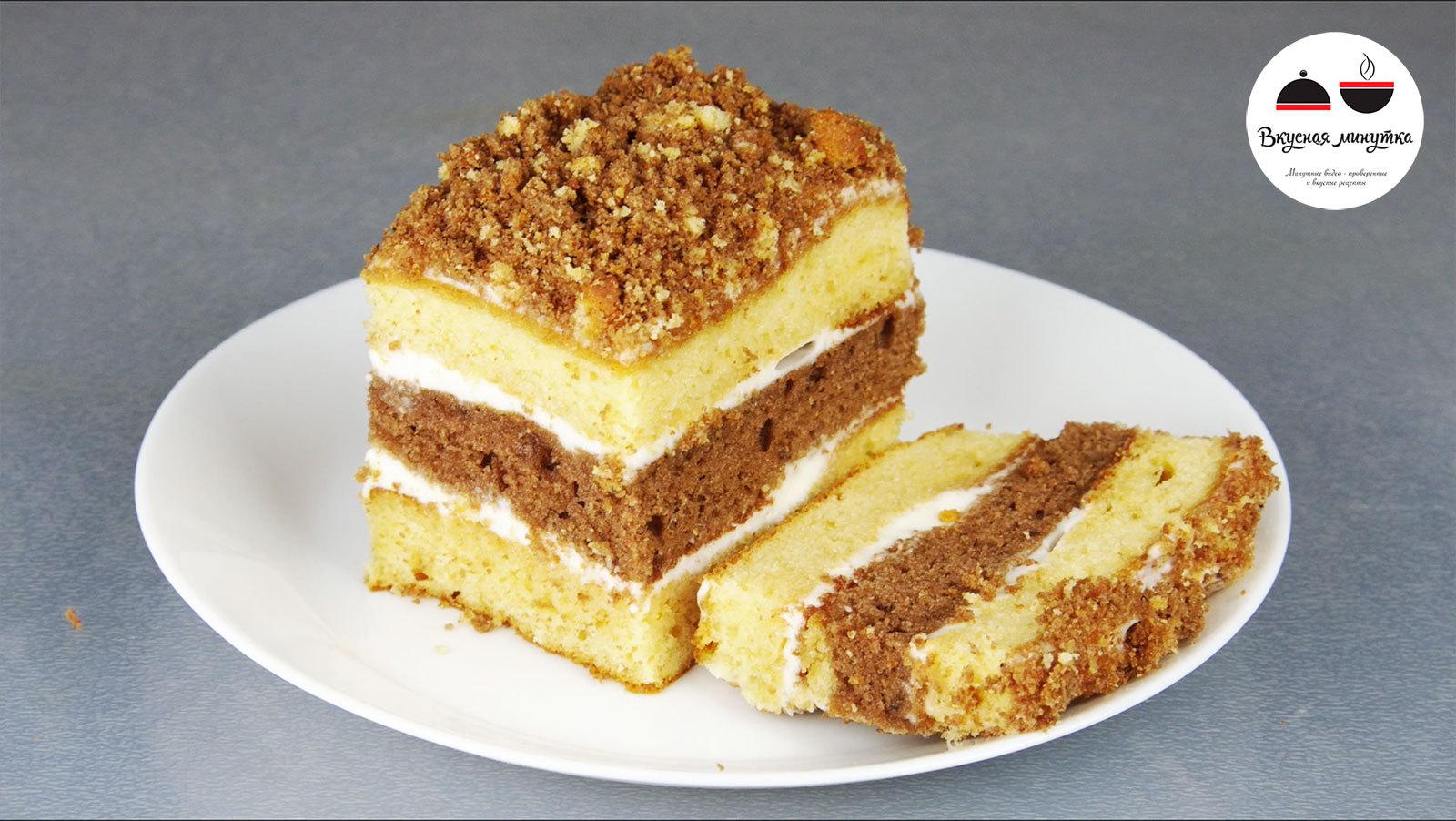 Быстрый пирог на сгущенке