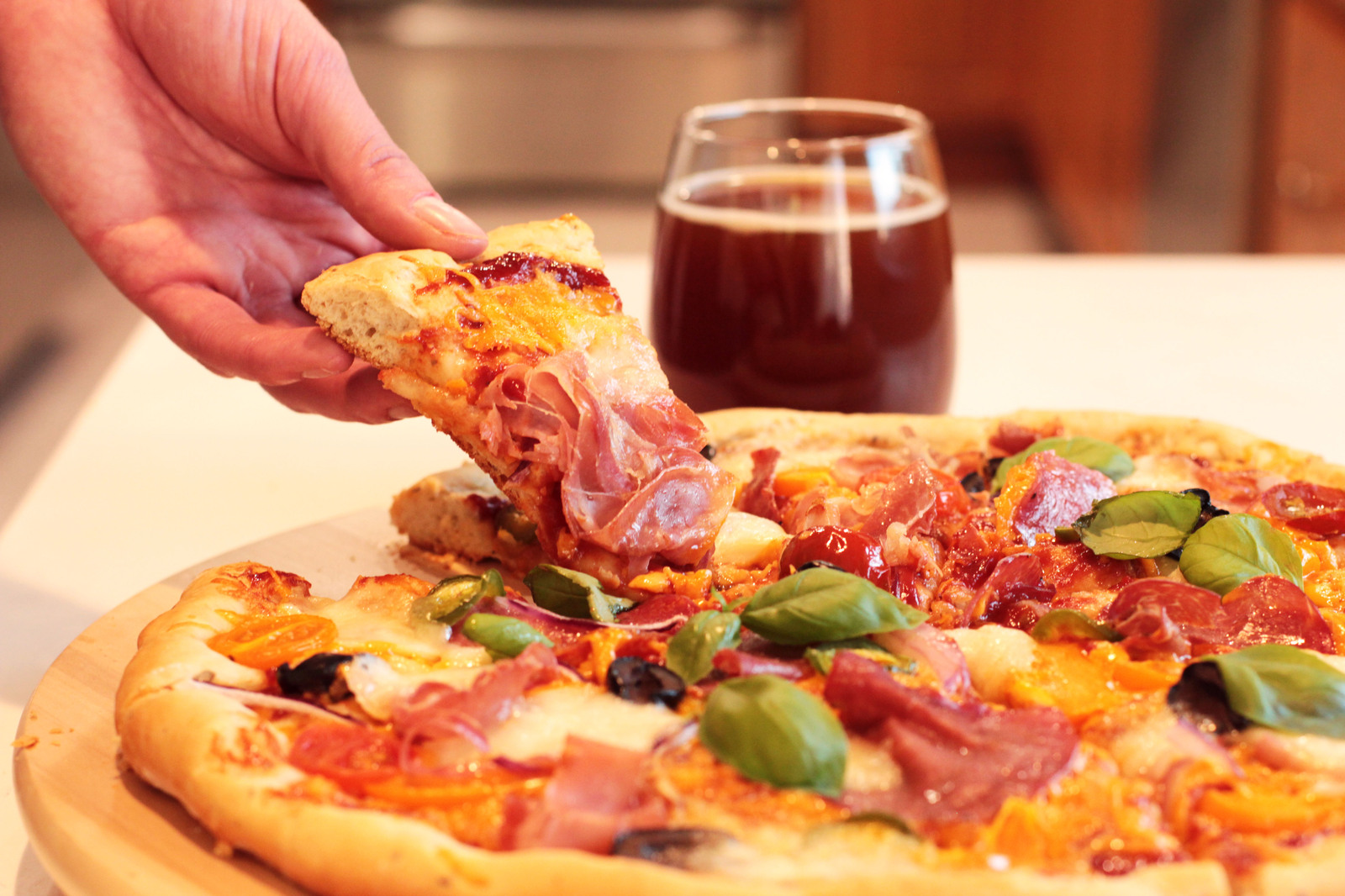 пиццу на пиве на Вкусное тесто