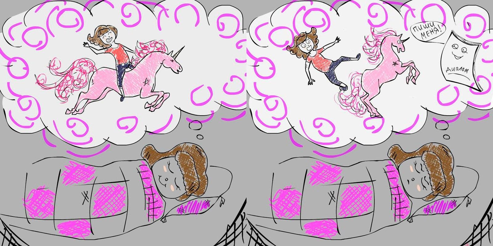 Я и Диплом Я и Диплом моё Комиксы студенты Учеба диплом кошмар рисунок