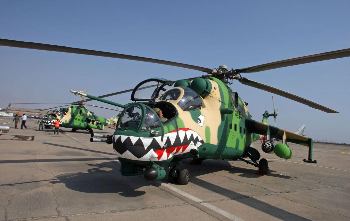 Обои ГШ-30К, ВВС Нигерии, Модернизированный вариант Ми-24, Ми-35П, Ударный вертолёт, экспортный вариант Ми-24П. Авиация foto 14