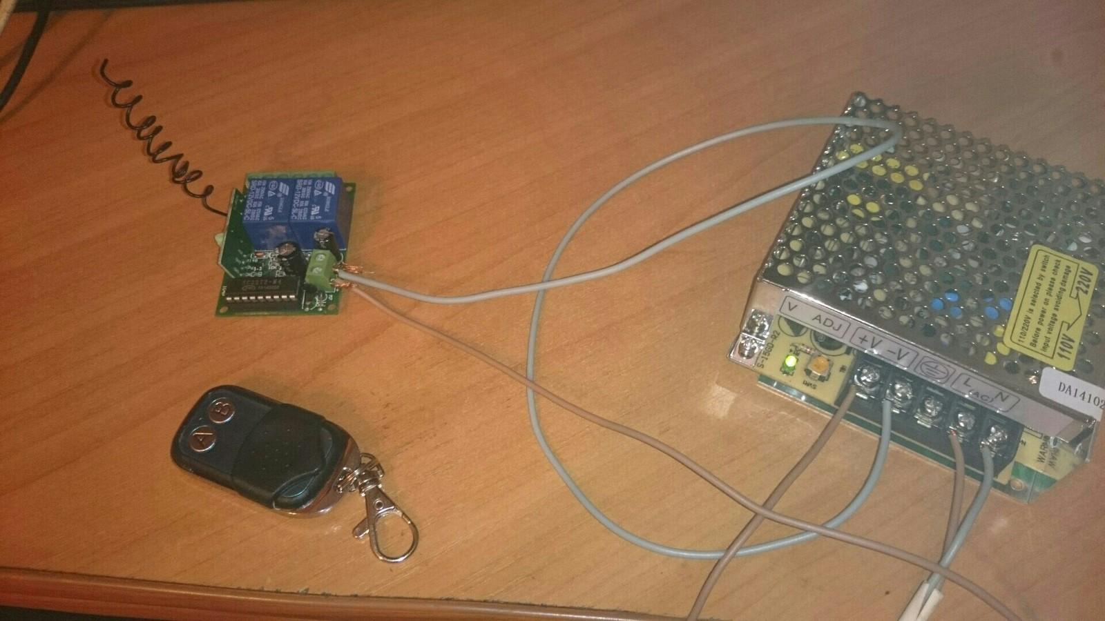 автоматические ворота с дистанционным управлением схема