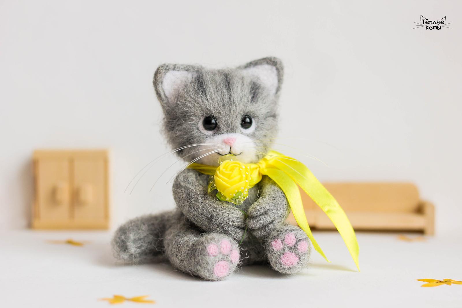 Кот игрушка ручная работа