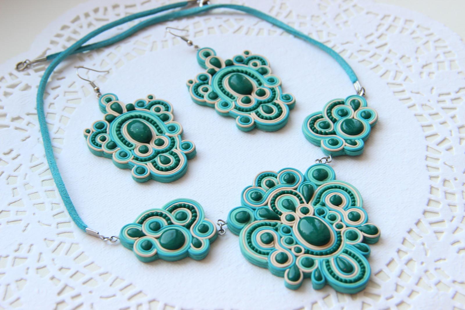 b85b17a45de1 Комплект ювелирных украшений ручной работы.