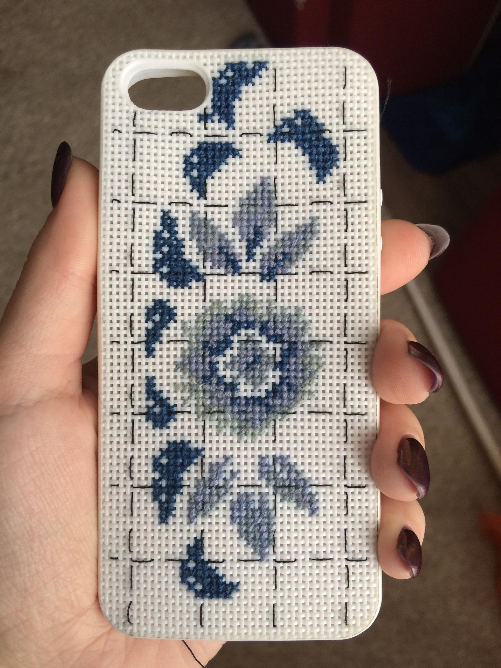 Вышивка футляр для телефона