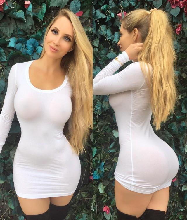Жопа в сексуальных платьях
