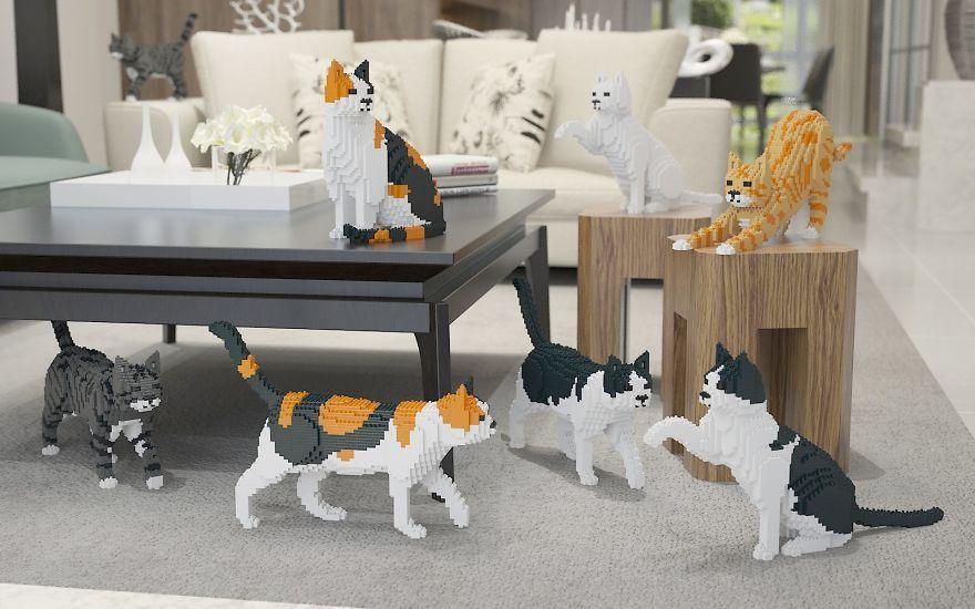 Лего-коты для тех, кому настоящей кошки недостаточно | Пикабу