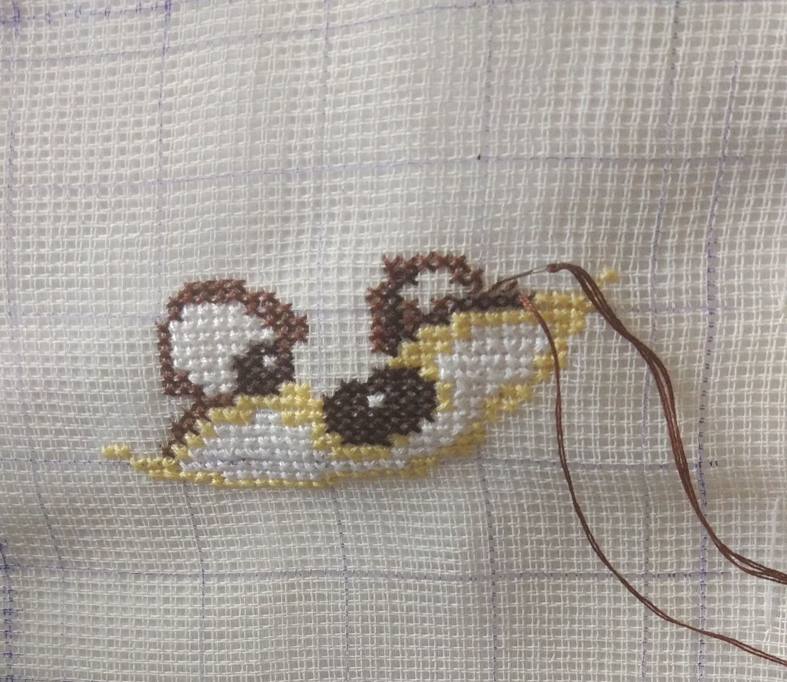 Вышивки крестом рисунок на ткани 132
