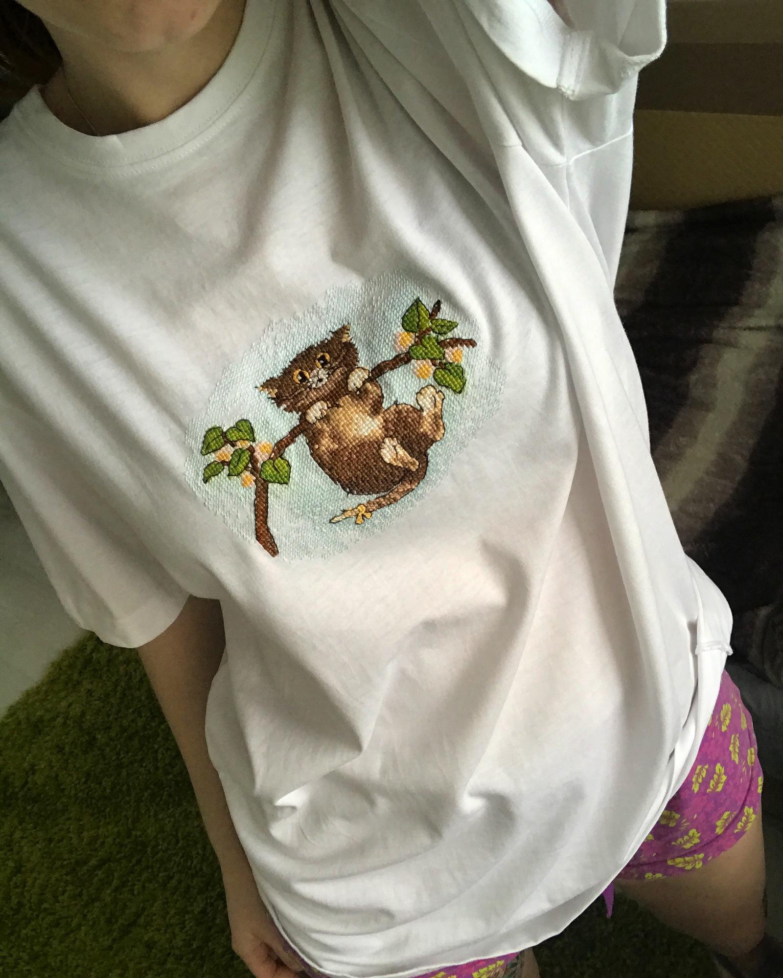 Кот на футболке своими руками фото 63