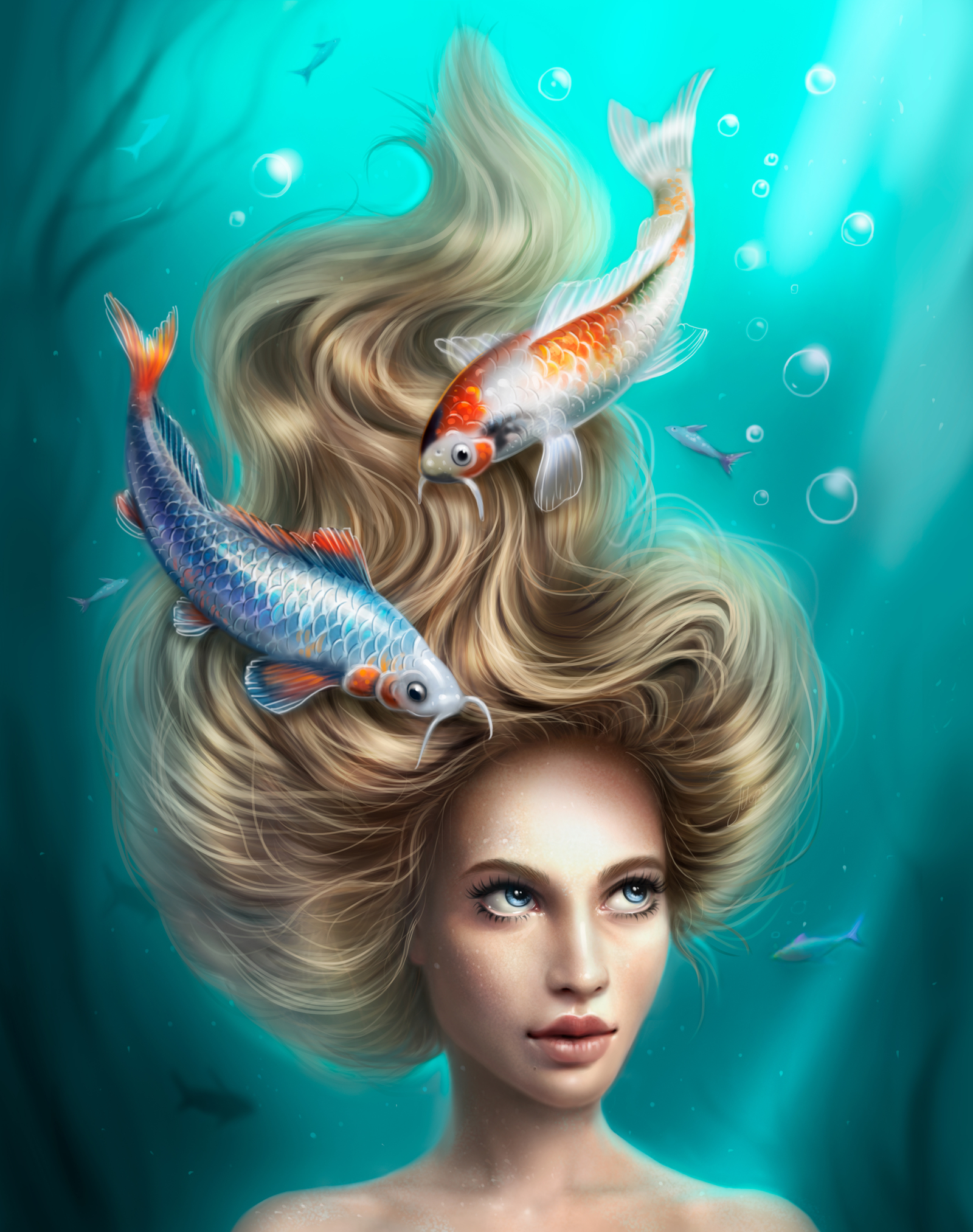 Девушки под зодиаком рыбы