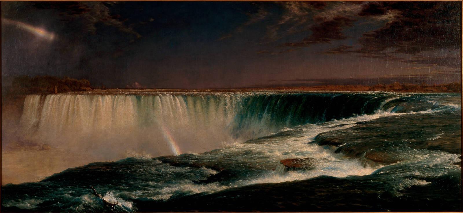 Обои водопад, Пейзаж, картина, Сердце Анд, Фредерик Эдвин Чёрч. Разное foto 9