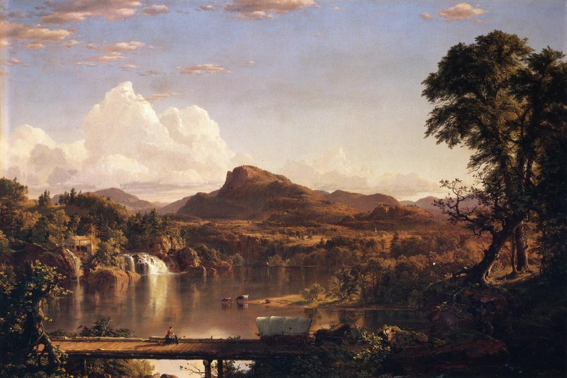 Обои водопад, Пейзаж, картина, Сердце Анд, Фредерик Эдвин Чёрч. Разное foto 11