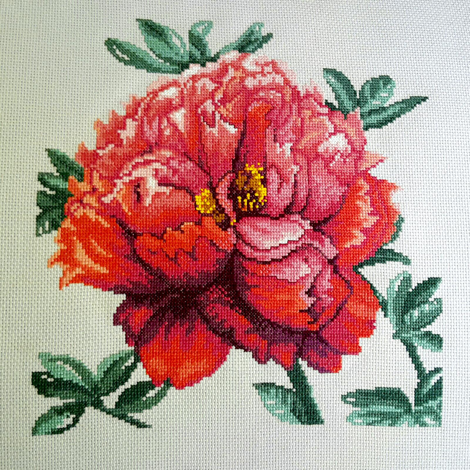 Вышивка крестом розы (схемы и видео) 16