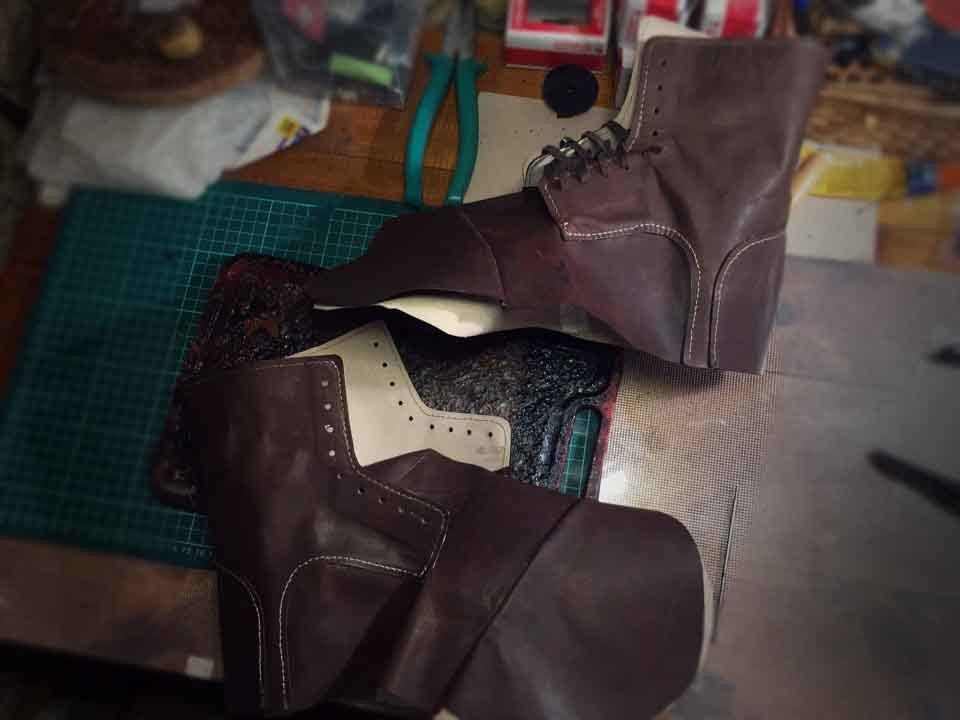 Ботинки своими руками кожа