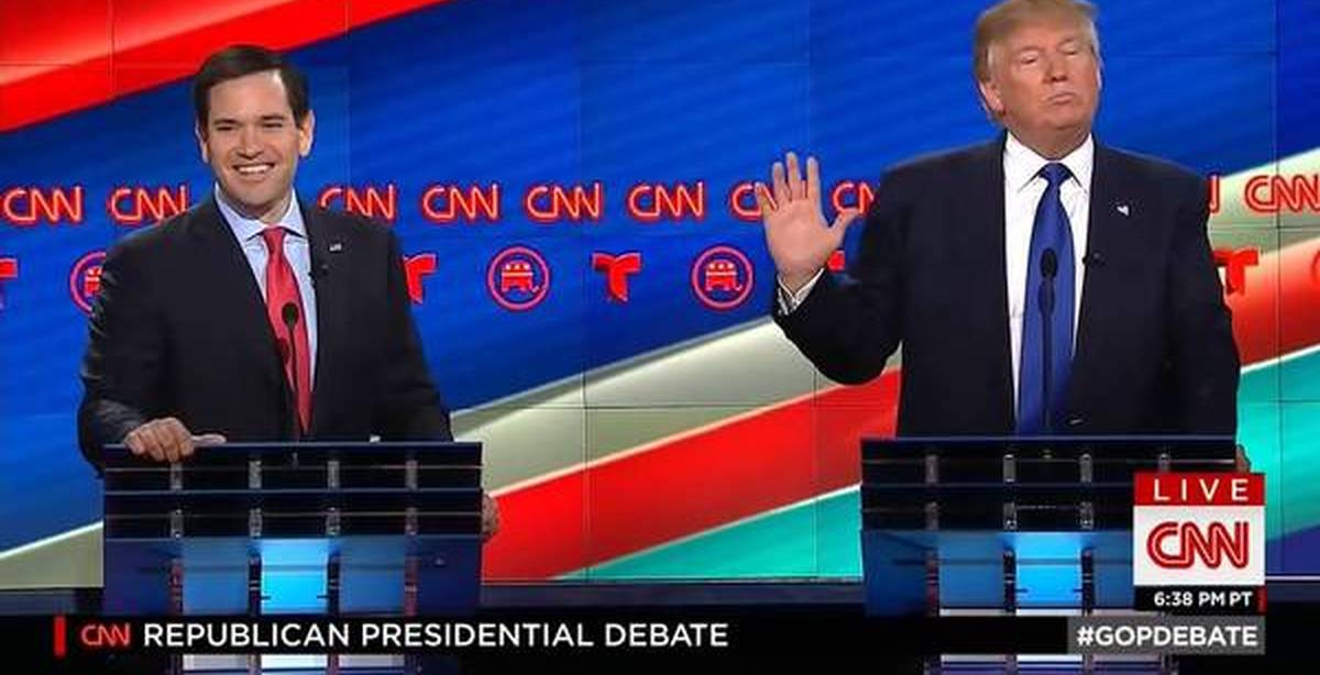 the childish republican debate between rubio cruz and trump Rubio and cruz go after republican debate turns nasty as rubio lays into trump consolidate their own appeal among republicans who disdain trump rubio used.